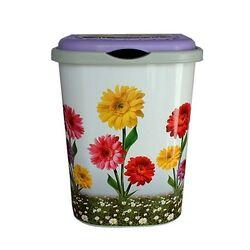 Δοχείο Απλύτων 55lt Decor Λουλούδι