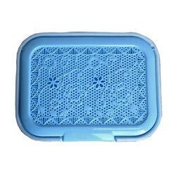 Καλάθι Απλύτων 55lt 44x33x56cm Γαλάζια Δαντέλα