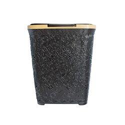 Καλάθι Απλύτων 55lt 44x33x56cm Καφέ Δαντέλα