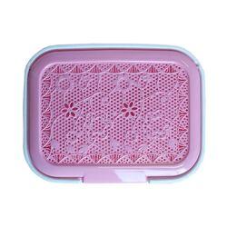 Πλαστικό Δοχείο απλύτων δαντέλα 40lt ροζ
