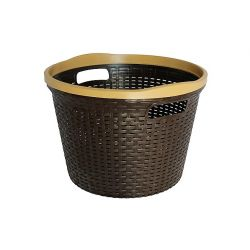 Καλάθι Ρούχων Στρογγυλό 30lt RATTAN Καφέ