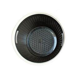 Καλάθι Ρούχων Στρογγυλό 30lt RATTAN Μαύρο