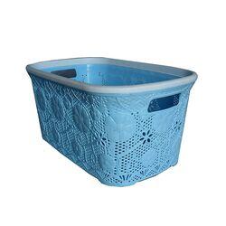 Πλαστικό Καλάθι Ρούχων 40lt Γαλάζιο Δαντέλα