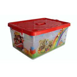 Κουτί Αποθήκευσης Διάφανο 40lt Βάρος 1,6kg με Ρόδες DECOR Αρκουδάκια