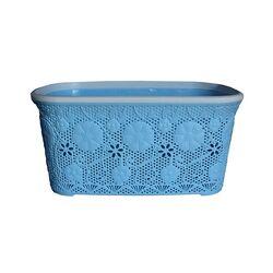 Καλάθι Ρούχων 40lt Γαλάζια Δαντέλα