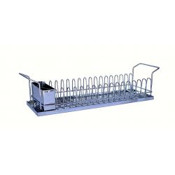 Πιατοθήκη Στεγνωτήρι Πιάτων INOX (Ανοξείδωτο Ατσάλι) 18/10 59x20cm Χαμηλή 16 Θέσεις Πιάτων
