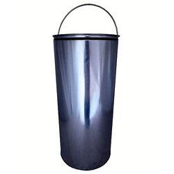 Κάδος απορριμάτων 52lt INOX Διπλός Φ39x88 5,5kg Βαρέως Τύπου Επαγγελματικός με Δεύτερο Γαλβανιζέ Κάδο Φ32x68 PUSH Καπάκι με Πεντάλ