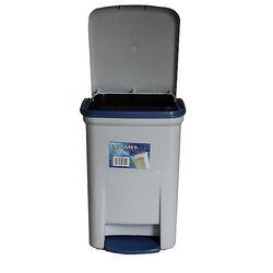 Κάδος Μπάνιου Πεντάλ 13.5lt 25x22x32cm Εσωτερικό Κάδο 7lt 18x18x24cm Πλαστικός Γκρι VIOMES Ελλάδας
