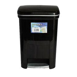 Κάδος Μπάνιου Πεντάλ 13.5lt 25x22x32cm Εσωτερικό Κάδο 7lt 18x18x24cm Πλαστικός Μαύρο VIOMES Ελλάδας
