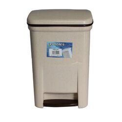 Κάδος Μπάνιου Πεντάλ 13.5lt 25x22x32cm Εσωτερικό Κάδο 7lt 18x18x24cm Πλαστικός Μπεζ Γρανίτης VIOMES Ελλάδας