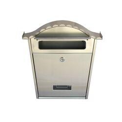 Γραμματοκιβώτιο 32x10.5x37cm Εξωτερικού Χώρου INOX με Κλειδαριά και Υποδοχή Ονόματος