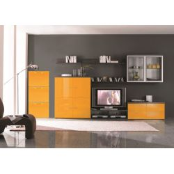 Παπουτσοθήκη Πλαστική Συναρμολογούμενη 51x17.3x41cm για 3 Ζευγάρια 2.5kg UNIKA Πορτοκαλί ARTPLAST Ιταλίας