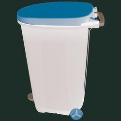 Κάδος Απορριμάτων 95lt 40x60x85.5cm Πλαστικός 4.9kg Επαγγελματικός/Κήπου με Πεντάλ-Ρόδες-Χερούλι Μεταφοράς Μαύρο-Πορτοκαλί BAMA Ιταλίας