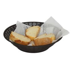 Καλάθι Ψωμιού Στρογγυλό Φ31 RATTAN Καφέ Σκούρο