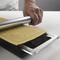 Marcato Φόρμα Design 10 θέσεων Ασημί για Ζυμαρικά Ravioli 34x12.5x2cm και Πλάστης