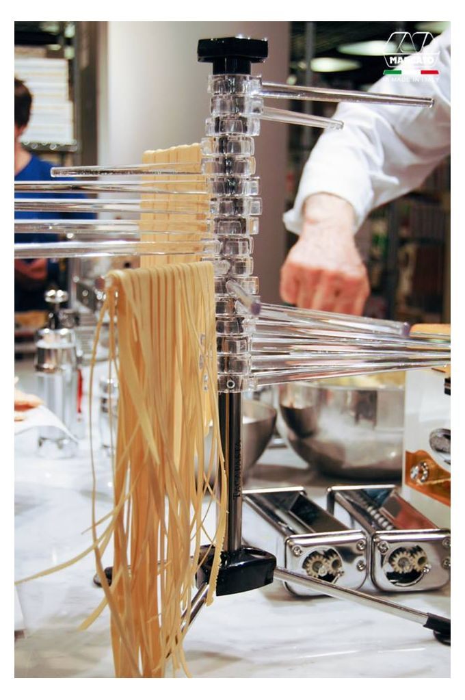 Marcato Στεγνωτήρι Ζυμαρικών Design με 16 Ράβδους MAX Αντοχή 2kg Βάση Αλουμινίου-Πλαστικοί Ράβδοι Διάφανο