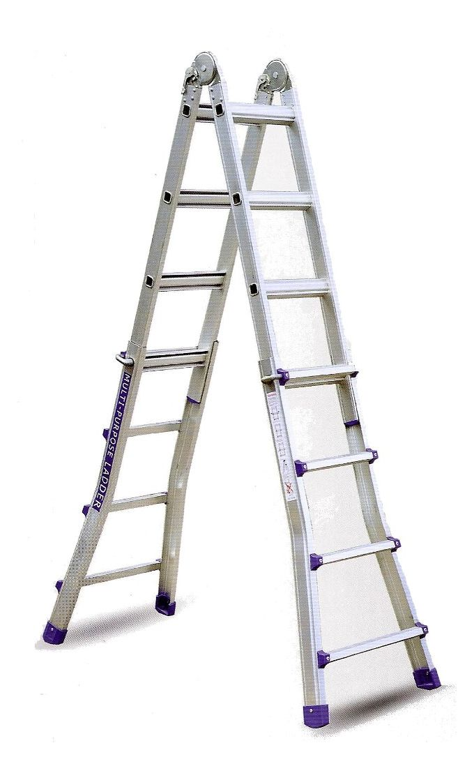 Σκάλα Αλουμινίου Επαγγελματική 4x4 Σκαλιά Multiuse Μέγιστο Ύψος 399 εκατοστά Αντοχή 150kg Βάρος 11.5kg με Πιστοποίηση EN131