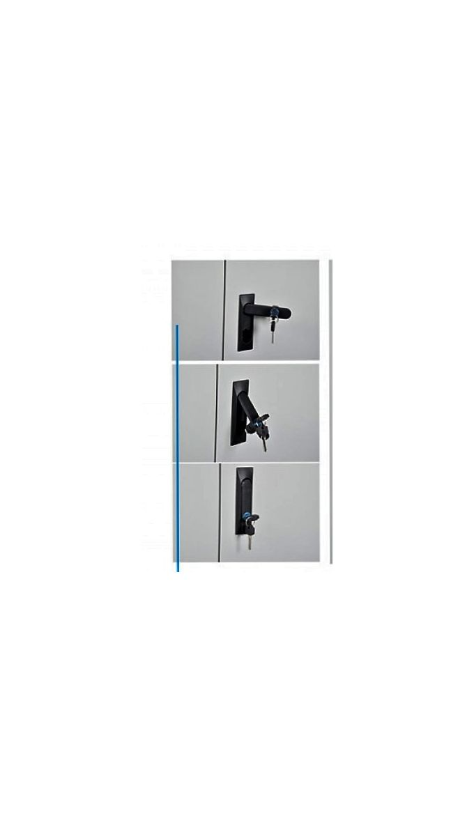 Μεταλλική Ντουλάπα Πάχους 0,8mm/1,25mm (πάτωμα)  Γαλβανιζέ 90x45x90cm - 2 Αποθηκευτικοί Χώροι Ελλάδας