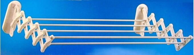 Απλώστρα Ρούχων Τοίχου-Μπάνιου Πλαστικό ABS 104x50x16cm SKATTO 100 GIMI Βέργες 100% Αλουμινίου Άπλωμα 6m Αντοχή 7kg Βάρος 0,75kg Ιταλίας