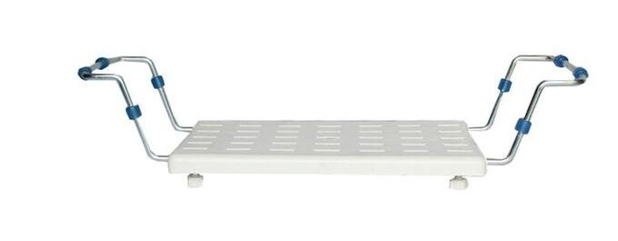 Κάθισμα-Σκαμπό Μπανιέρας 65.5x22x14cm Πλαστικό με Επεκτεινόμενα Μεταλλικά Μπράτσα Βάρος 1.85kg Λευκό TECHNOSET Ελλάδας