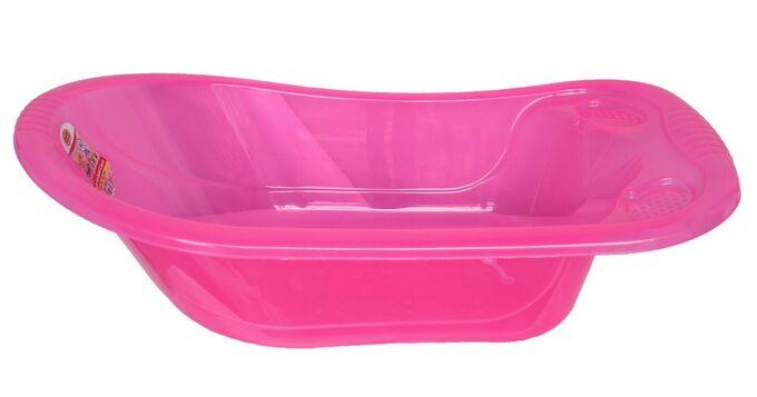 Μπανάκι Βρεφικό 89x54x26,5 Με Βαλβίδα Αντιολισθητική Επίστρωση Διάφανο Ροζ