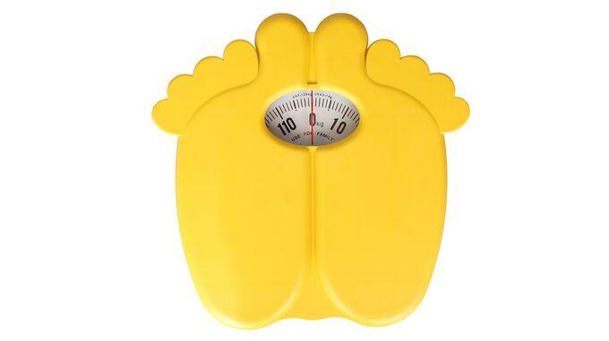 Μηχανική Ζυγαριά Μπάνιου 28x28x5.5cm Ικανότητα Ζύγισης 120kg Βάρος 1.1kg SOLE Κίτρινη