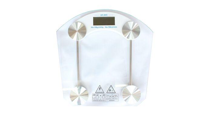 Ψηφιακή Ζυγαριά Μπάνιου Γυάλινη 33x32x4cm Πάχος Γυαλιού 8mm Ικανότητα Ζύγισης 150kg Βάρος 2.15kg MODERN GLASS