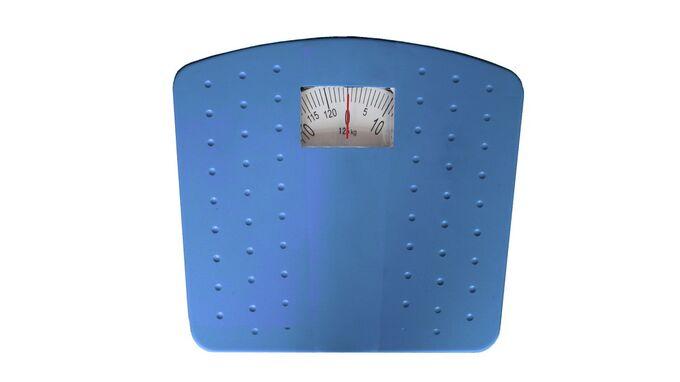 Μηχανική Ζυγαριά Μπάνιου 30x27.5x6cm Ικανότητα Ζύγισης 125kg Βάρος 1.47kg DOTS Μπλε