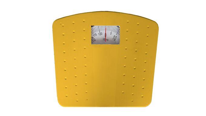 Μηχανική Ζυγαριά Μπάνιου 30x27.5x6cm Ικανότητα Ζύγισης 125kg Βάρος 1.47kg DOTS Κίτρινη