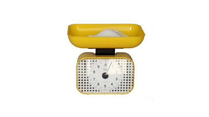 Μηχανική Ζυγαριά Κουζίνας με Ικανότητα Ζύγισης 10kg KITCHEN Κίτρινη