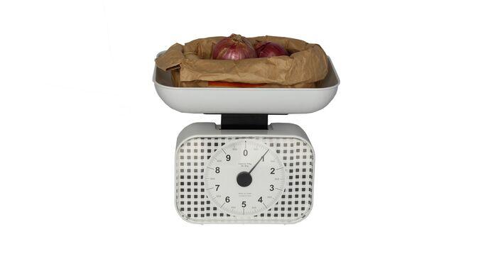 Μηχανική Ζυγαριά Κουζίνας με Ικανότητα Ζύγισης 10kg KITCHEN Λευκή