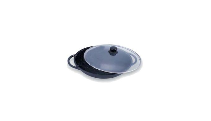 Σκεύος Αντικολλητικό Wok με Πυρέξ Καπάκι