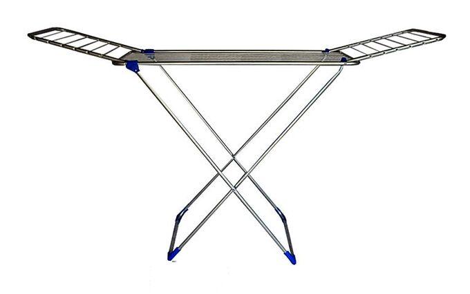 Απλώστρα Ρούχων Πτυσσόμενη 3φυλλη Αλουμινίου 177x57x109cm με Σχοινί MAX Άπλωμα 18m Πάχος 16mm Βάρος 1.75kg