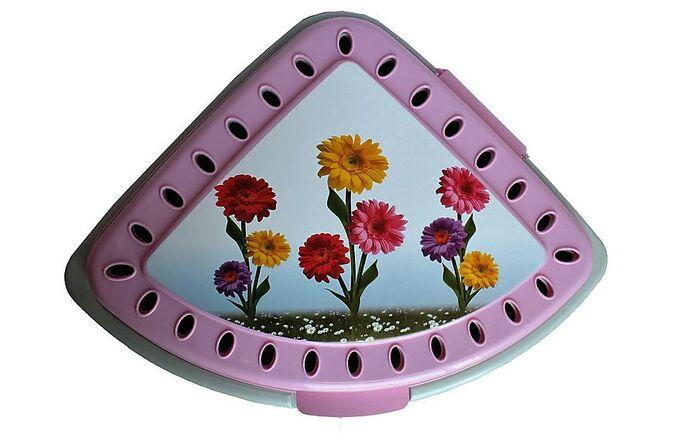 Καλάθι Απλύτων Τριγωνικό 43lt 40x35x54cm DECOR Λουλούδια