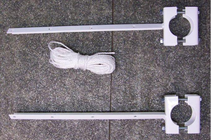 Απλώστρα Ρούχων Μεταλλική Βαμμένη Μπαλκονιού για Στρογγυλή Κουπαστή Φ50mm Αντοχή 30kg Ελλάδας