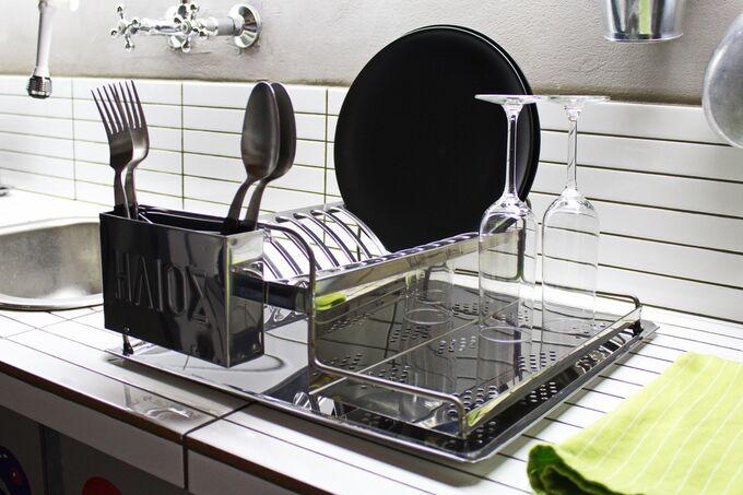 Στεγνωτήρι Πιάτων Χαμηλό ΙΝΟΧ