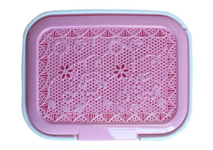Καλάθι Απλύτων 55lt 44x33x56cm Ροζ Δαντέλα