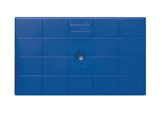 Σκαλοσκαμπό Πλαστικό 47x68x78cm 2+1 Σκαλιά Ανθρακί-Μπλε BAMA