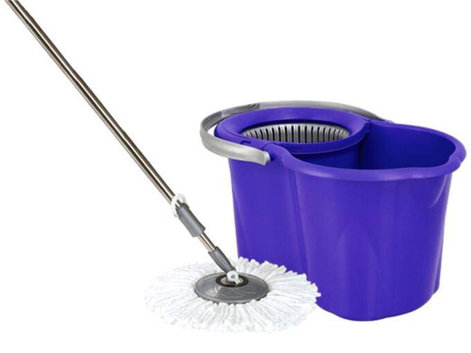 SPIN MOP CLASSIC Κουβάς Σφουγγαρίσματος 49x30x31cm 19lt 2.38kg με Περιστρεφόμενο Σύστημα Σφουγγαρίσματος 360° + Κοντάρι Mπλε