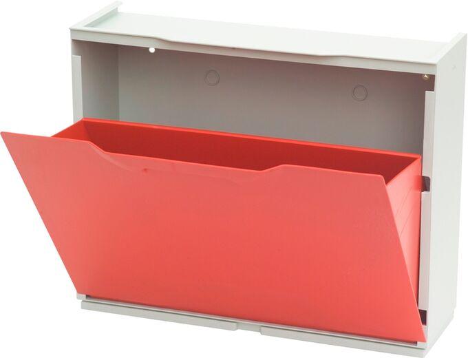 Παπουτσοθήκη Πλαστική Συναρμολογούμενη 2σε1 Σύνθεση 51x17.3x82cm UNIKA Κόκκινο ARTPLAST Ιταλίας