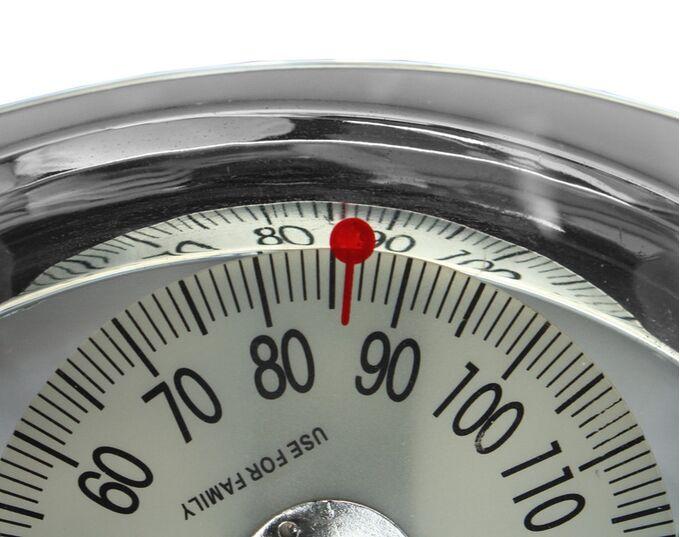 Μηχανική Ζυγαριά Μπάνιου Γυάλινη με Ικανότητα Ζύγισης 130kg Πάχος Γυαλιού 8mm Βάρος 2.26kg RETRO GLASS