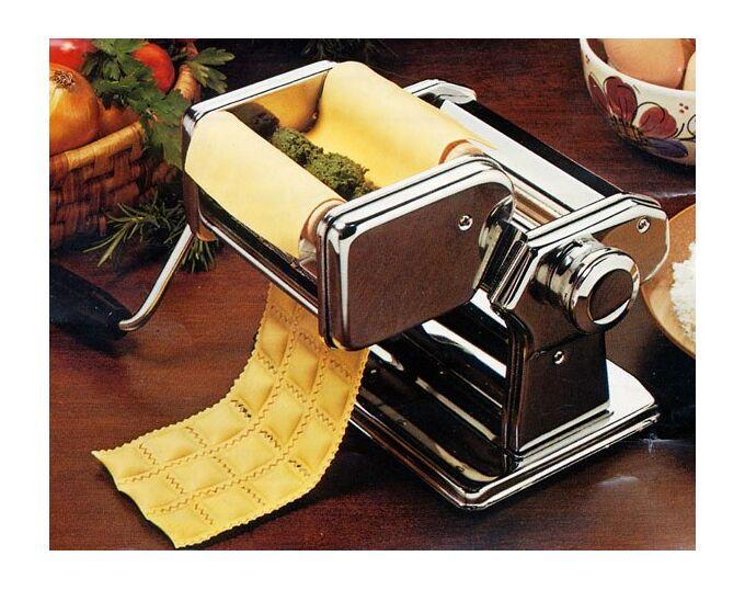 Marcato ATLAS150 Classic Σετ Μηχανή Φύλλου και Ζυμαρικών με Αξεσουάρ για Παρασκευή Ζυμαρικών Reginette, Spaghetti και Raviolini MULTIPAST150 Ιταλίας