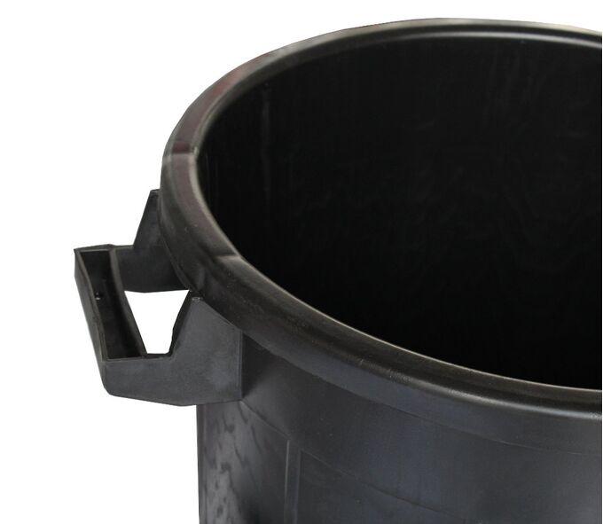 Κάδος Απορριμμάτων 75lt Φ46x65cm Πλαστικός με Καπάκι 3.24Kg Επαγγελματικός Μαύρος