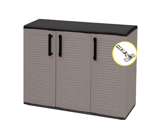 Πλαστική Ντουλάπα 13kg 102X37X84 με Χώρισμα STRONG 5 Χώρων 3φυλλη ARTPLAST EASYLINE