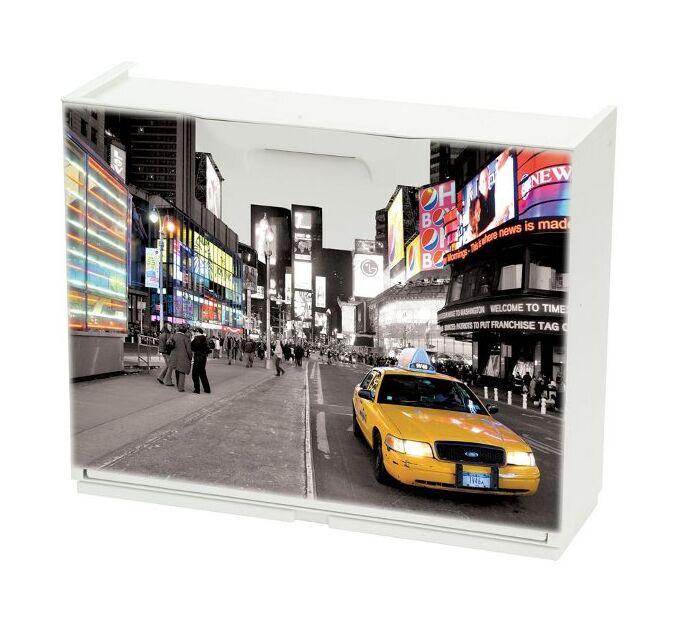 Παπουτσοθήκη Πλαστική Συναρμολογούμενη 51x17,3x41cm για 3 Ζευγάρια UNIKA Decor New York Times Square