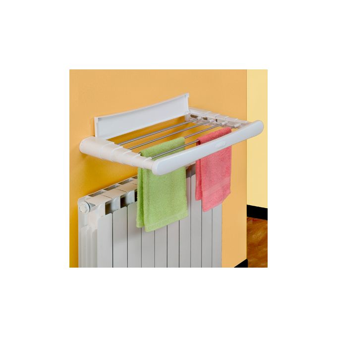 Απλώστρα Ρούχων Μπάνιου-Τοίχου 70x38x6cm TELEPACK 70 GIMI Πλαστική ABS Βέργες 100% Αλουμίνιο Άπλωμα 5m Αντοχή 7kg Βάρος 1.5kg Ιταλίας