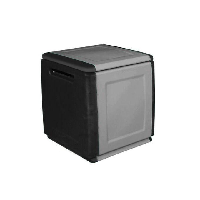 Μπαούλο 54x53x57 120lt Αποθήκευσης Πλαστικό MASSIF 7kg Μαύρο/Γκρι ARTPLAST CUBE