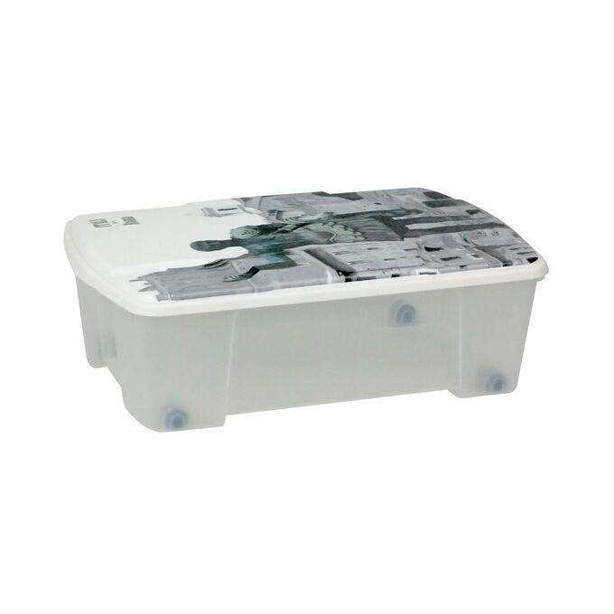 Κουτί Αποθήκευσης 56x39x18cm Πλαστικό 35lt Διάφανο Decor ROME ARTPLAST Ιταλίας
