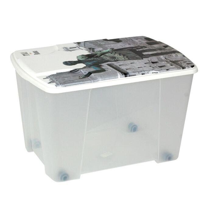 Κουτί Αποθήκευσης 56x39x35cm Πλαστικό 55lt Διάφανο Decor ROME ARTPLAST Ιταλίας