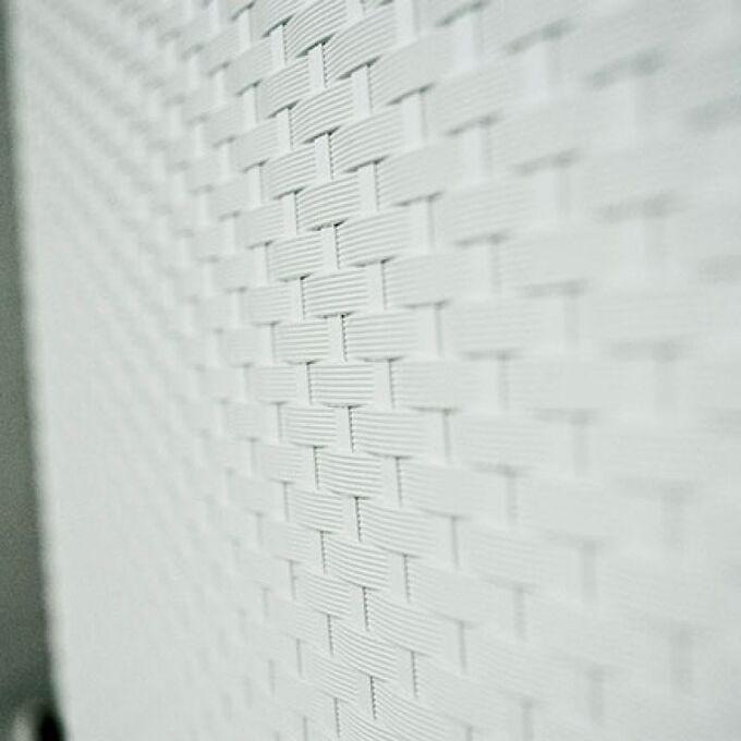 Παπουτσοθήκη Πλαστική Συναρμολογούμενη 51x17.3x41cm για 3 Ζευγάρια 2.5kg UNIKA Λευκή RATTAN Ανάγλυφη Πλέξη Ιταλίας